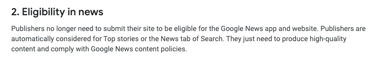 Google News' content policies