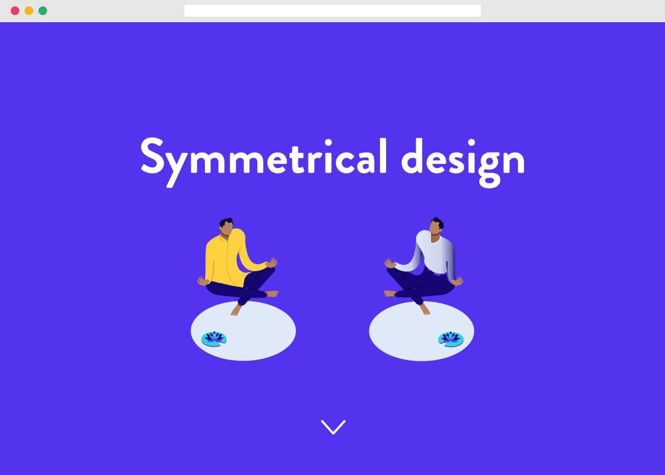 Symmetrical webdesign