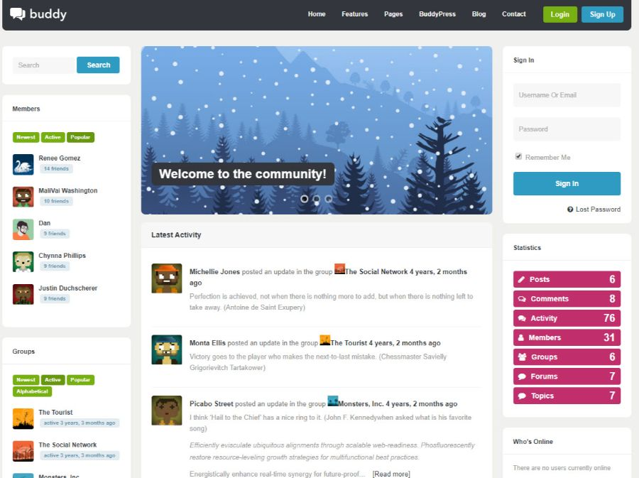 buddy - WordPress membership theme