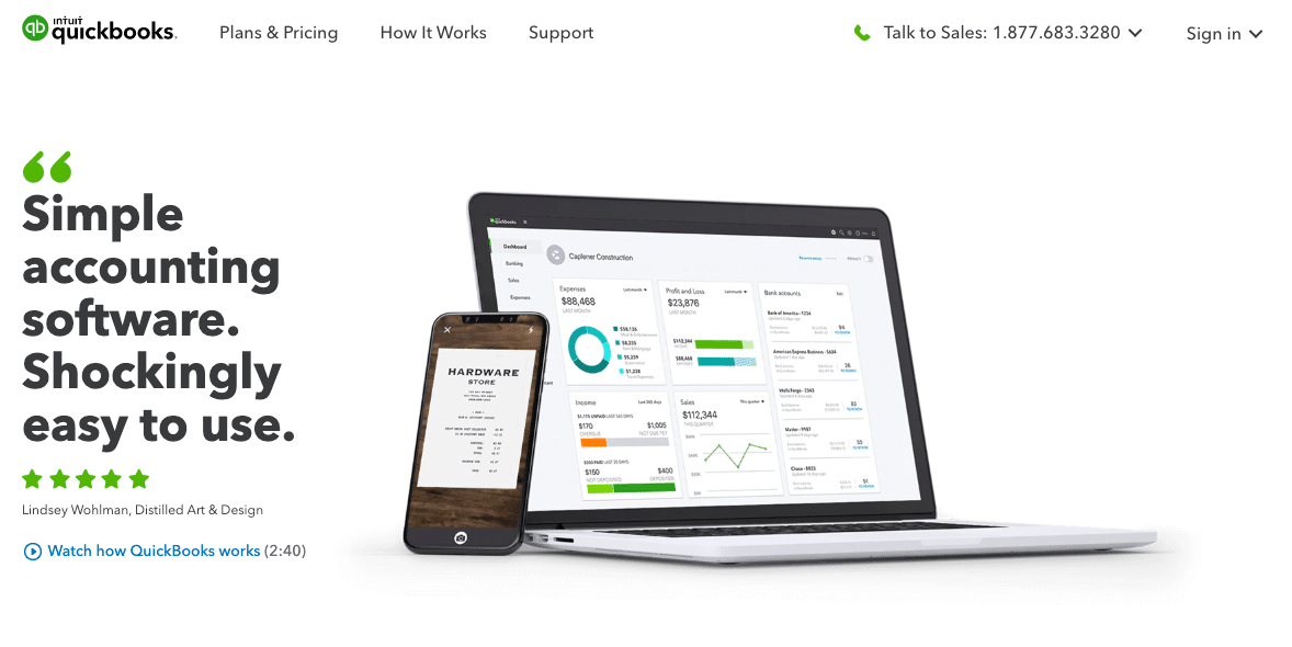 SaaS products: QuickBooks