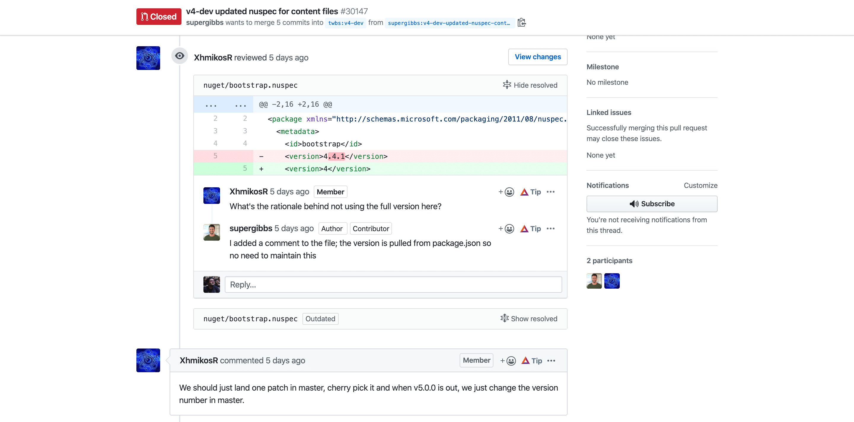 Code review tools: GitHub Code Review Tool within a Pull Request