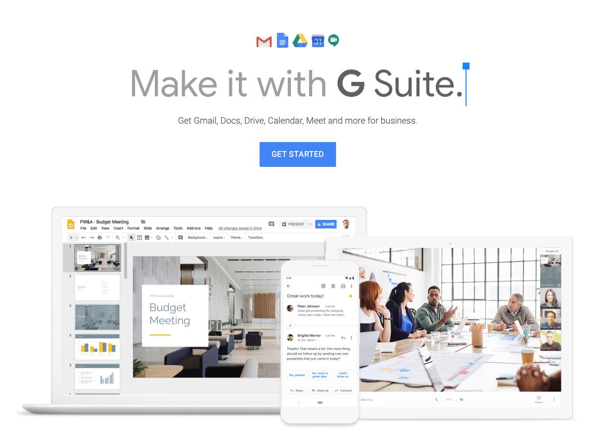 SaaS products: Google Workspace