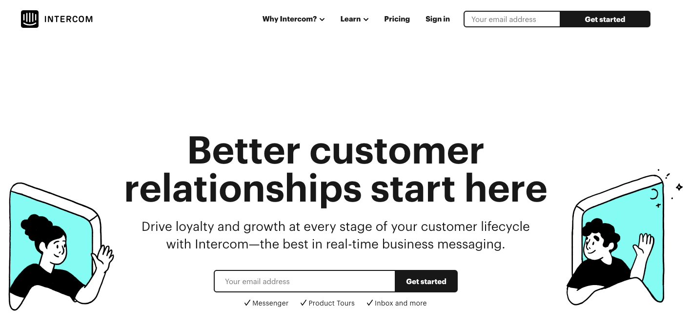 SaaS products: intercom