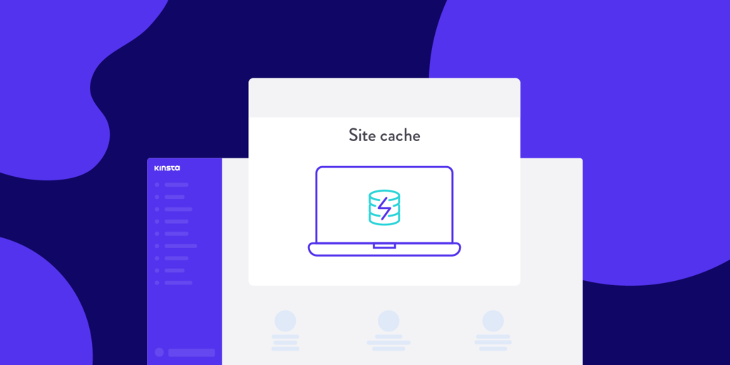 Kinsta cache status featured image.