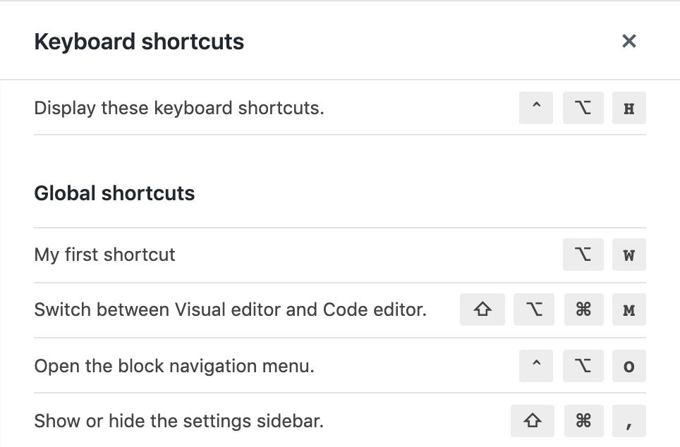 My first block editor shortcut