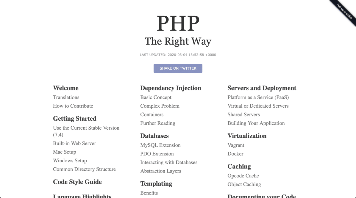 Best PHP tutorials - PHP the right way