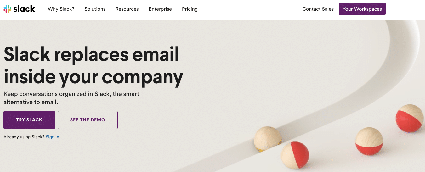 SaaS products: slack