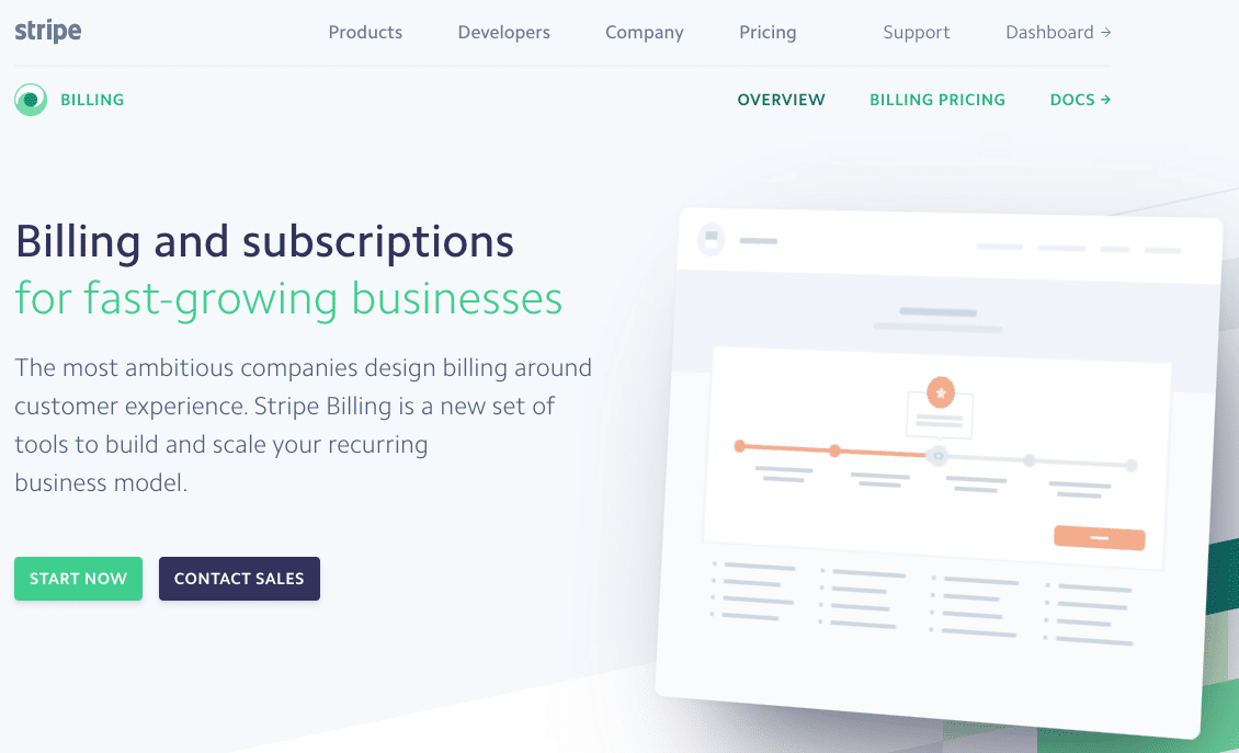 SaaS products: Stripe