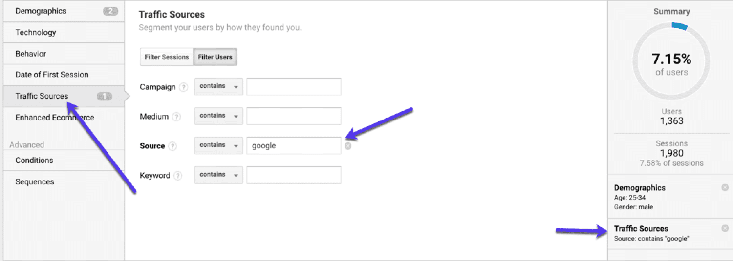 How to use Google Analytics: Segmenting by traffic source in Google Analytics