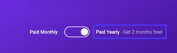 Kinsta's yearly plan offer two months of free hosting