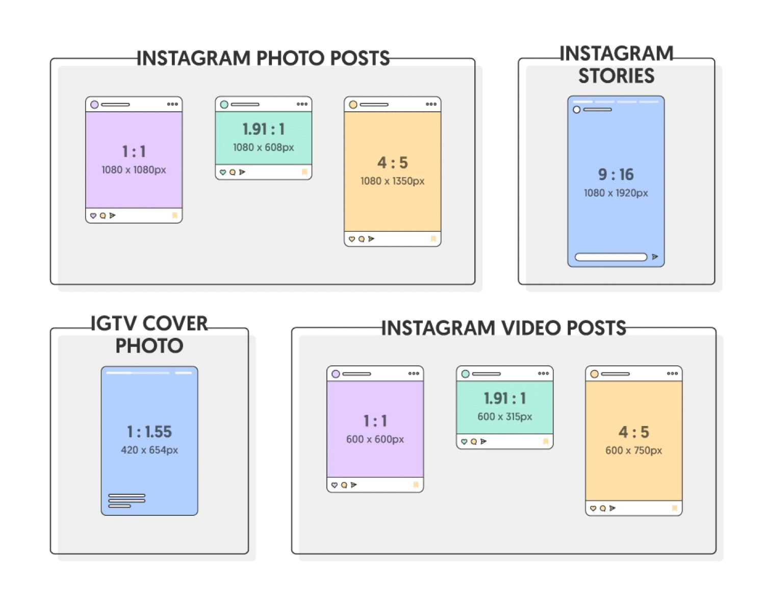 Banner ad sizes: common-instagram-ad-sizes
