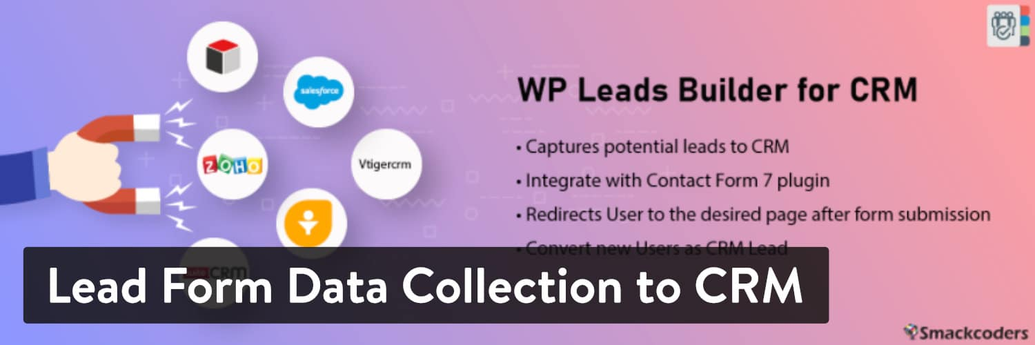 Lead Form Data Collection to CRM WordPress plugin