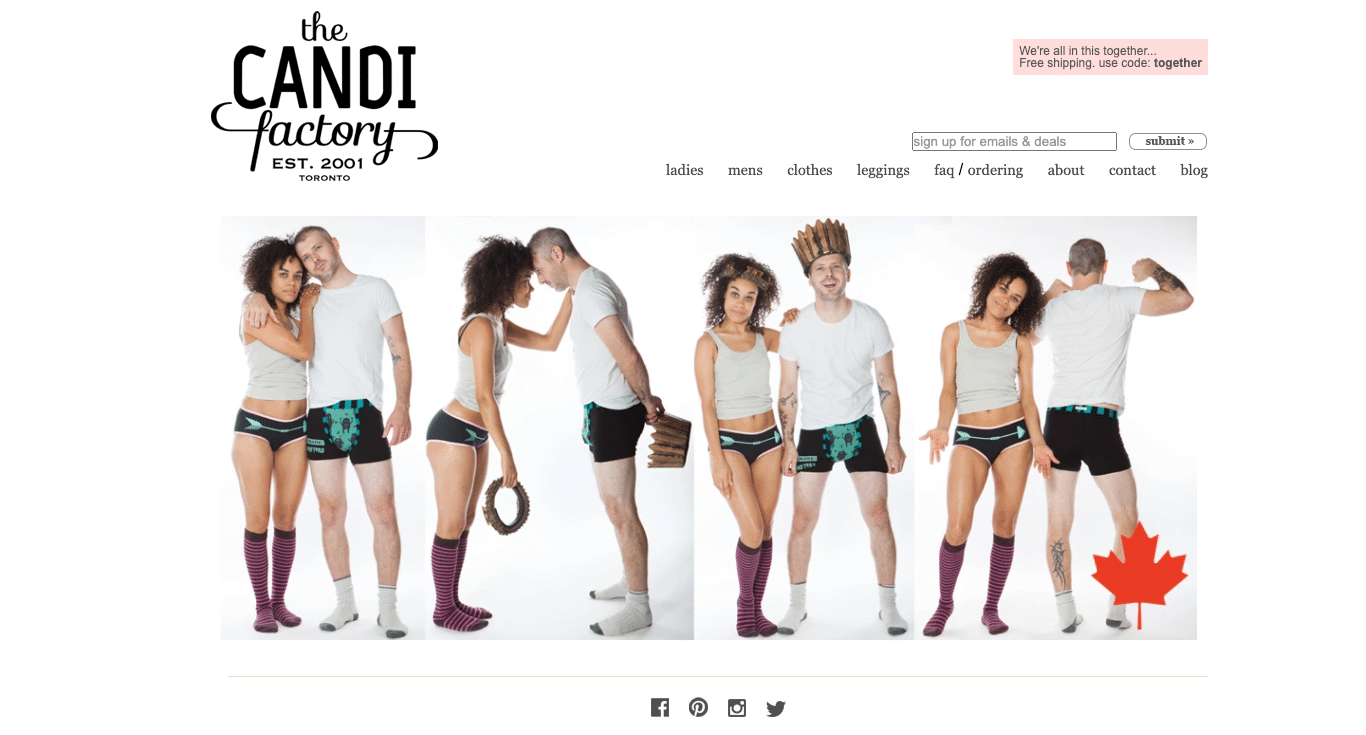 The Candi Factory, a fashion line based in Toronto