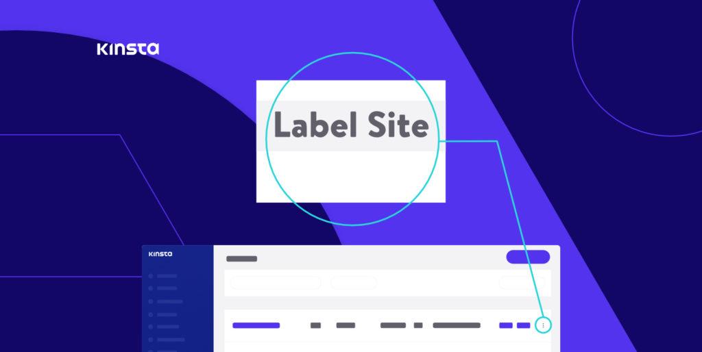 Label sites in MyKinsta.