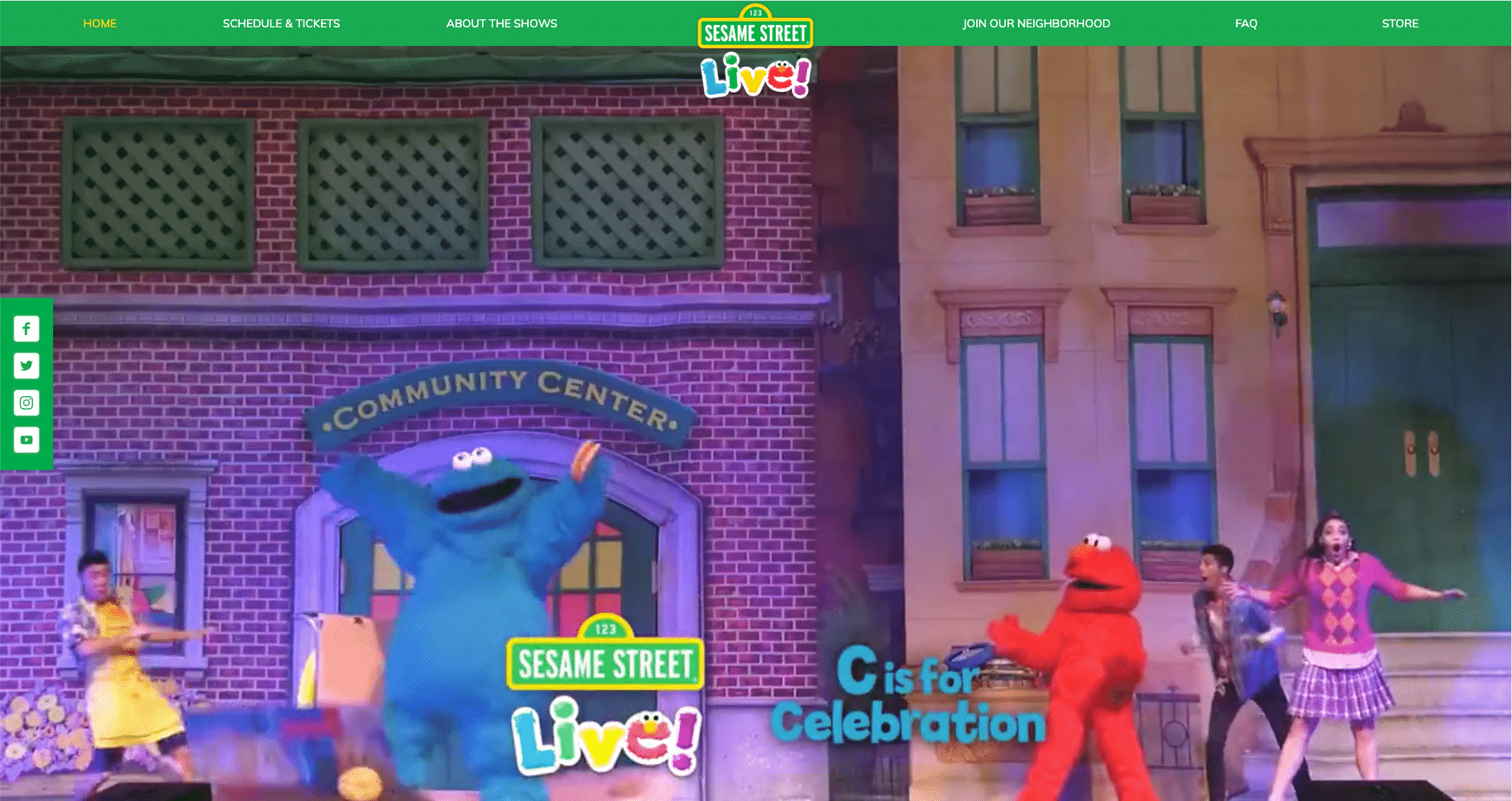 Sesame Street Live, the show's live performance ticket hub