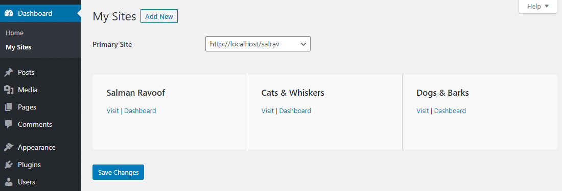 You can assign one user to multiple sites in a WordPress Multisite network