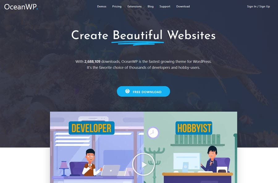 Review - OceanWP Wordpress Theme 2020 Free Download
