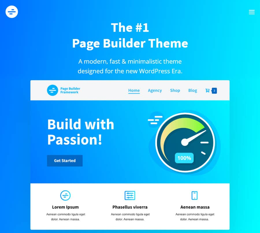 Page Builder - fastest WordPress theme