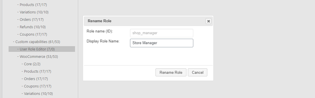 Rename the 'Role Display Name' easily