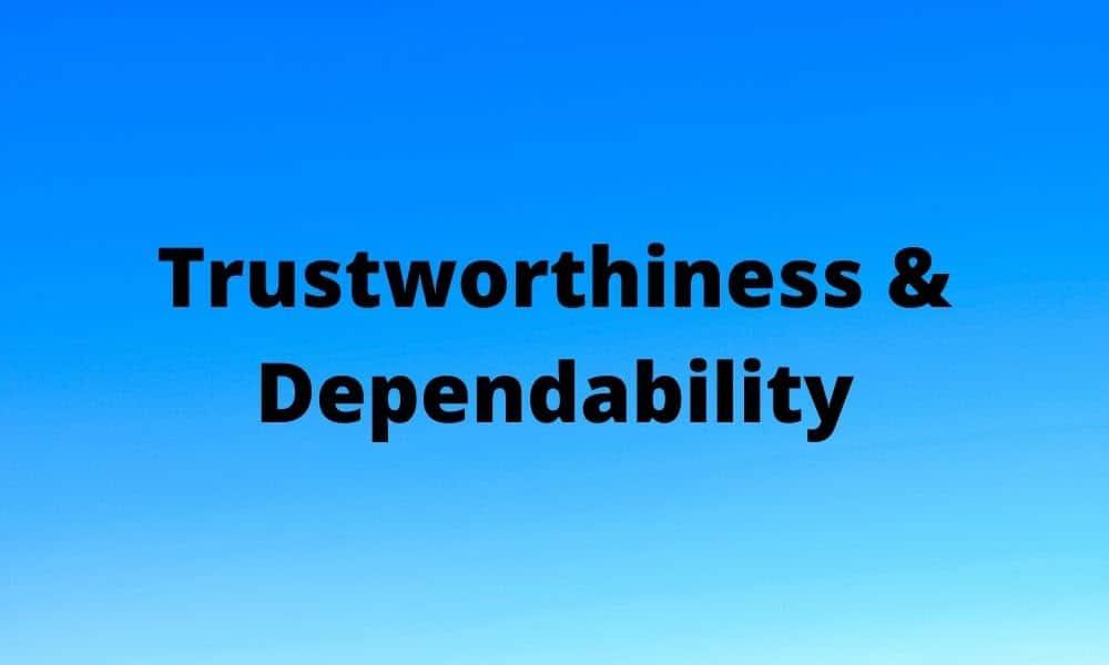 Trustworthiness Dependability 1