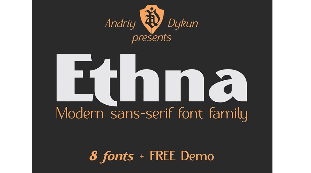 Modern fonts: ethna