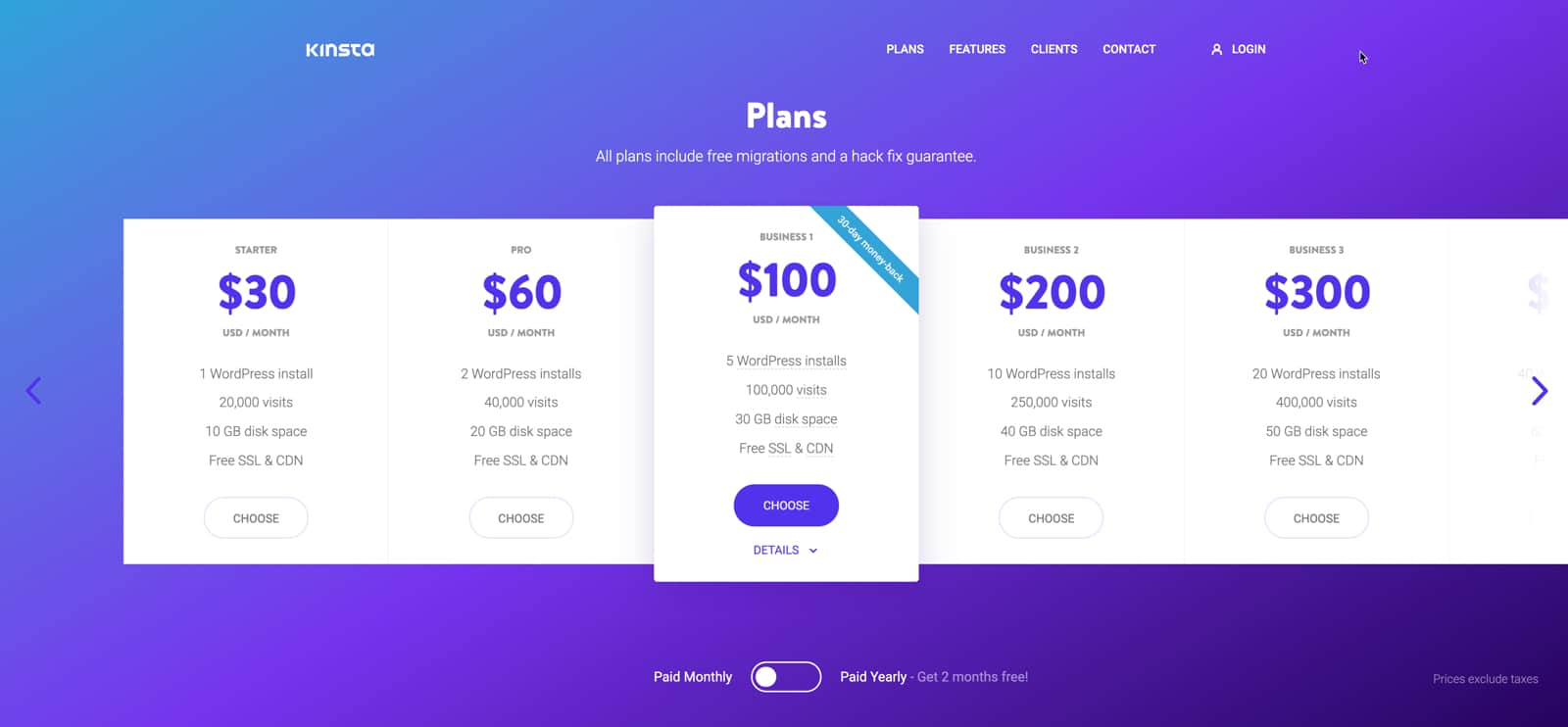 Kinsta offers a variety of plans to fit your needs.