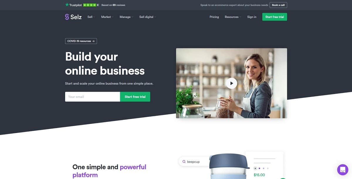 selz - shopify alternatives