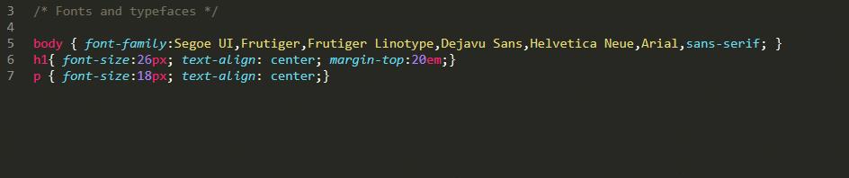 CSSスタイルシートの一例