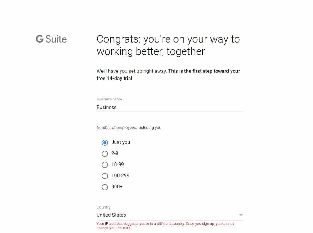 g suite signup 1