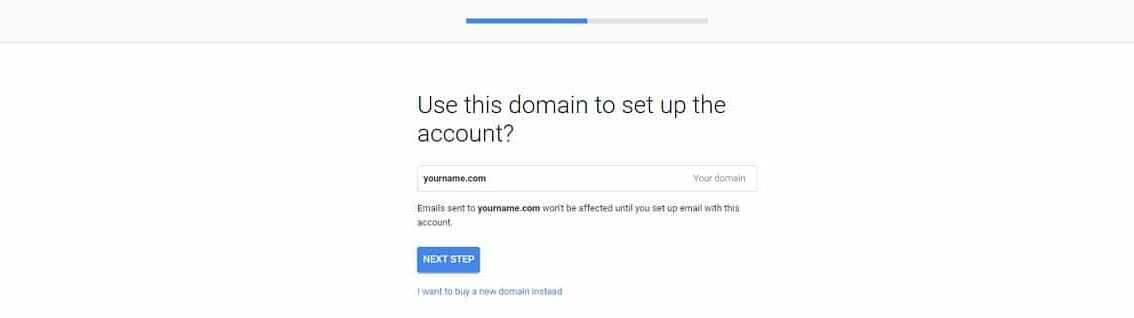 Google Workspace signup domain