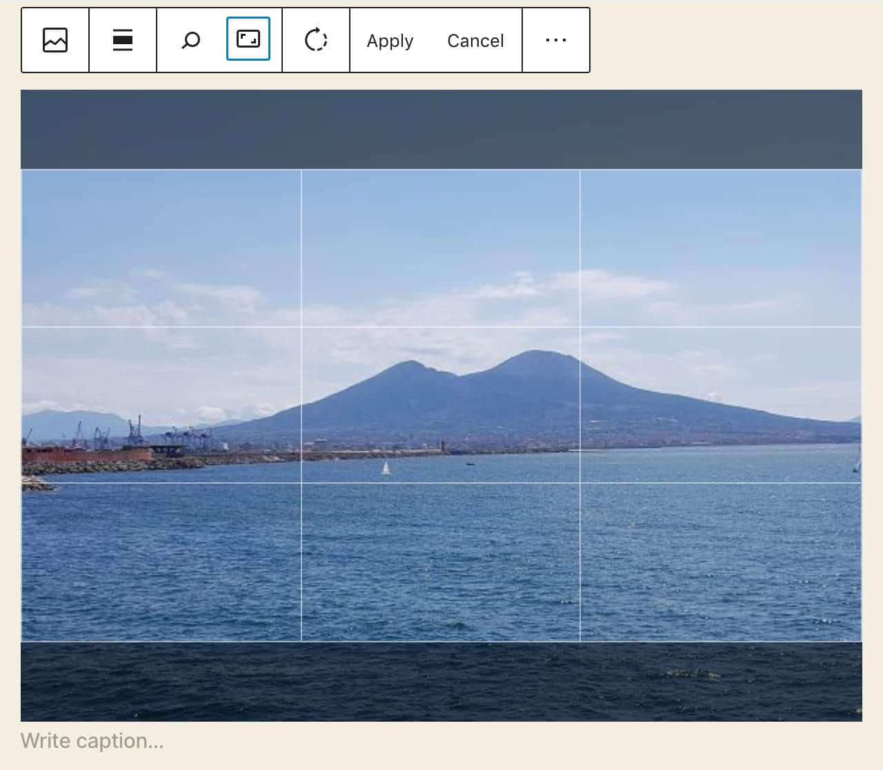 Inline image editing in WordPress 5.5