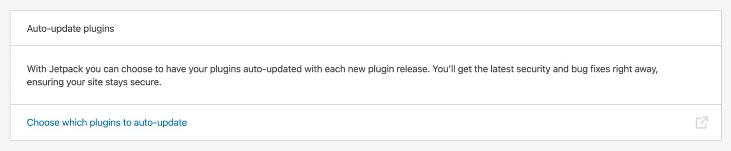 Auto-update plugins with Jetpack.