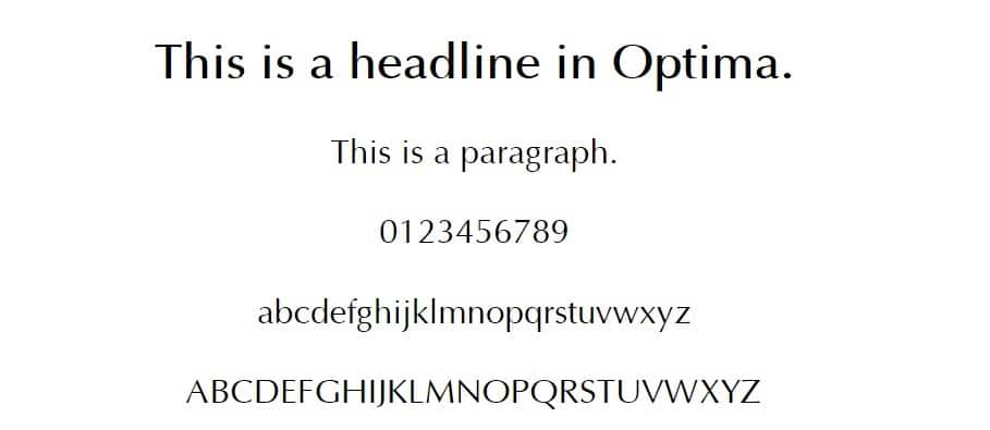 optima - web safe fonts