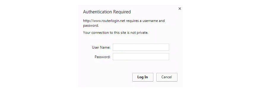 router login prompt