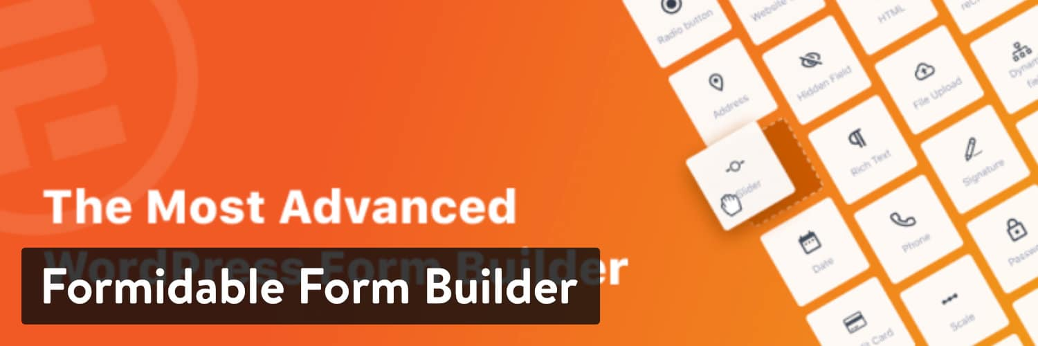 Formidable Form Builder WordPress plugin