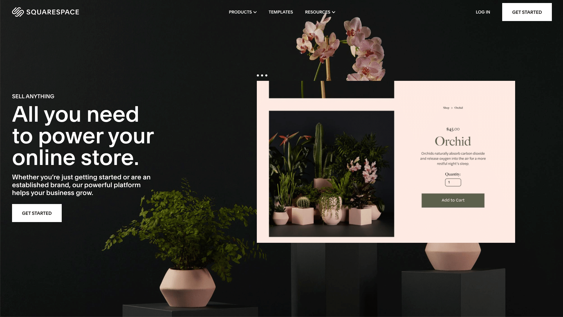Squarespace - shopify alternatives