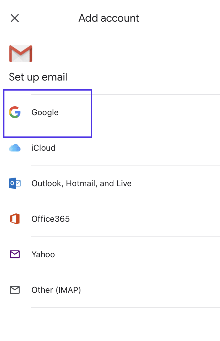 Adding Gmail address to iOS device