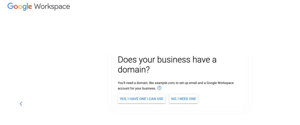 Google Workspace domain