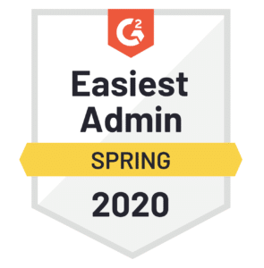 G2 Easiest Admin award Spring 2020