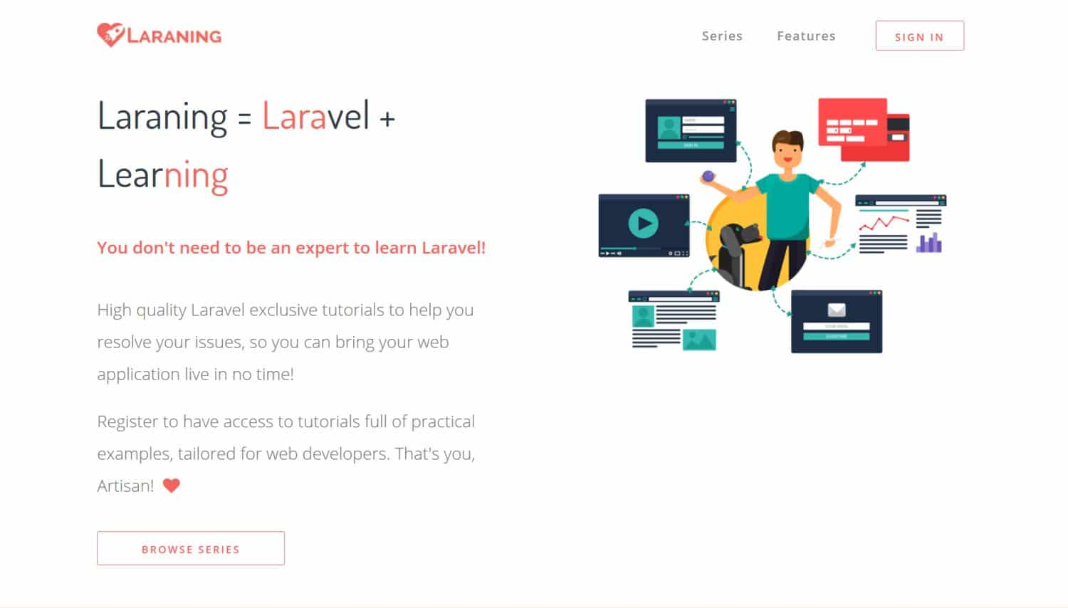 Laraning - Laravel tutorial