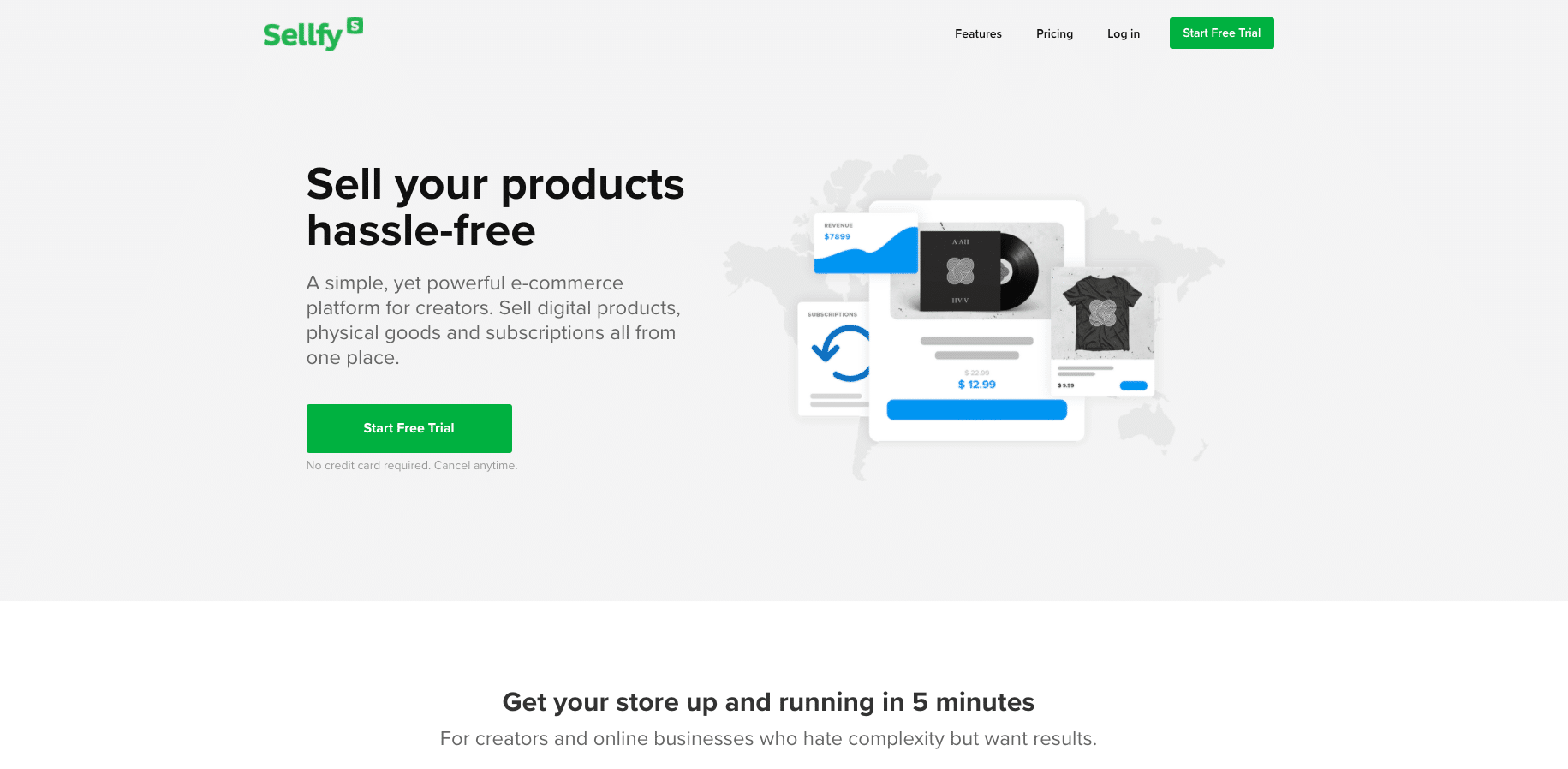 Sellfy - shopify alternatives