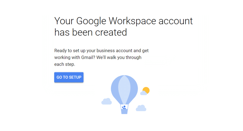 Your Google Workspace Account Has Been Created