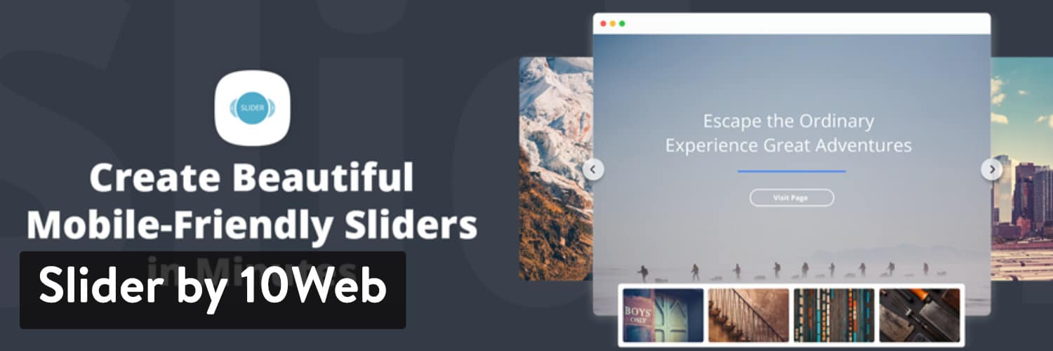 Slider by 10Web WordPress plugin