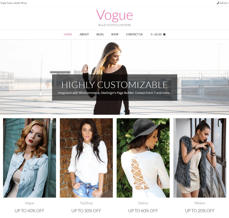 Vogue - fastest WooCommerce theme