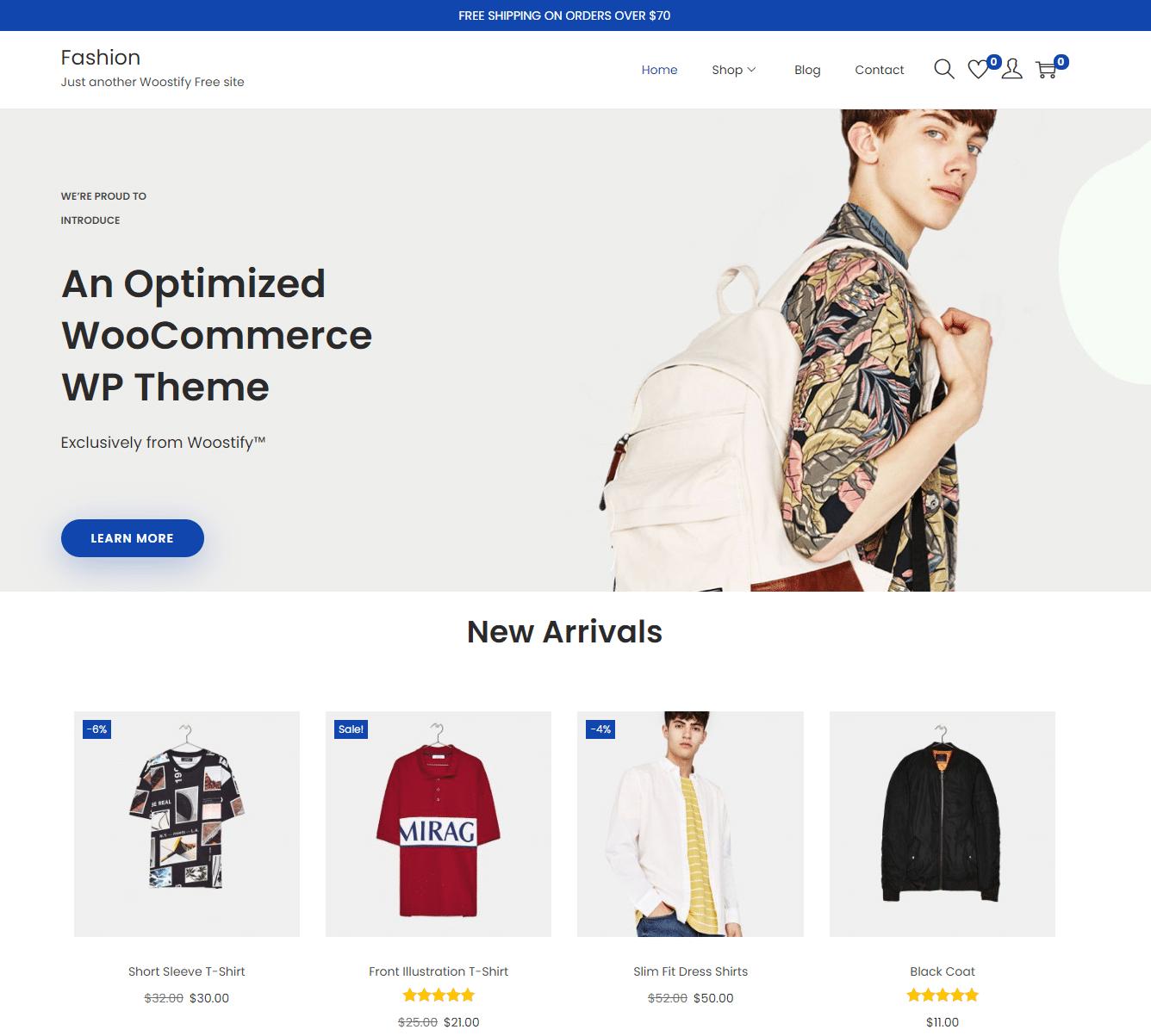 Woostify theme - fastest WooCommerce theme