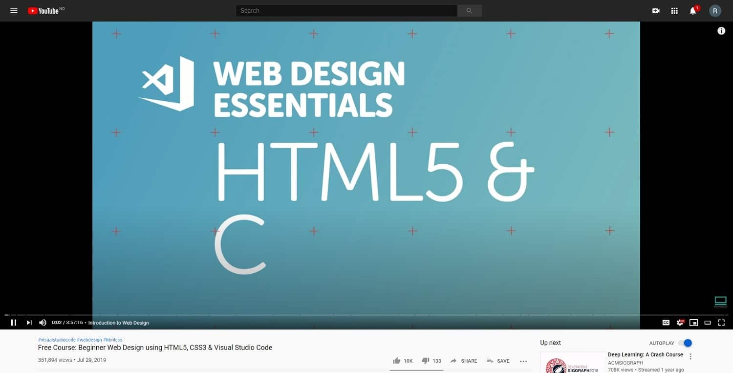 beginner web design html 5 css