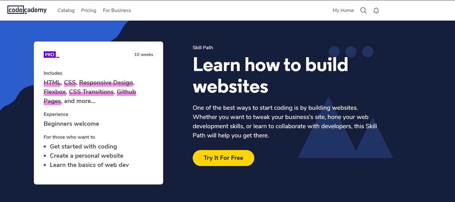CA - Construire un chemin de sites webs