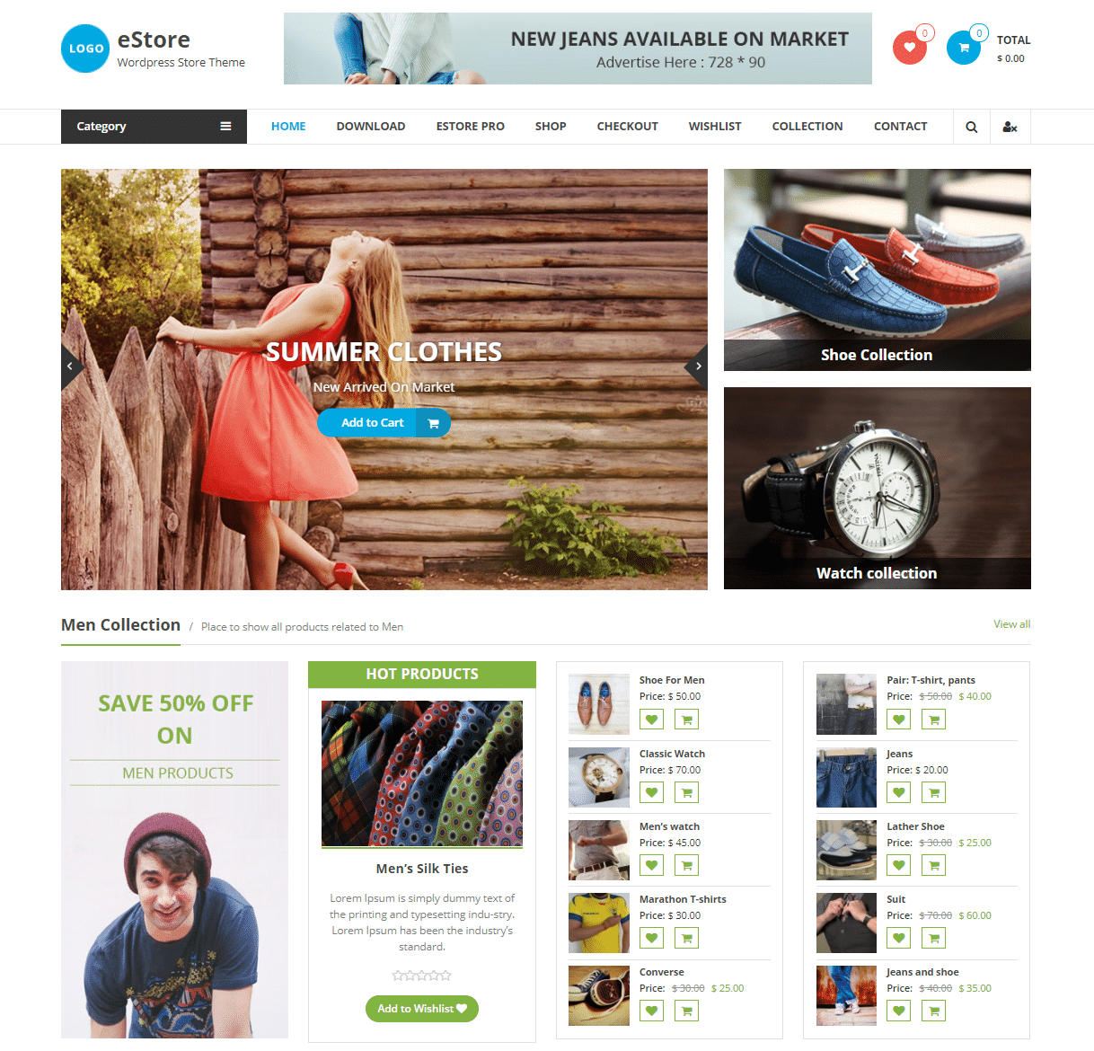 eStore fastest WooCommerce theme option