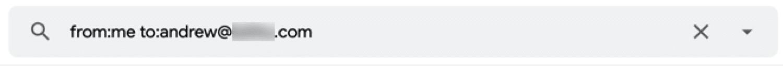Cómo ver una lista de todos los correos electrónicos enviados a una persona específica