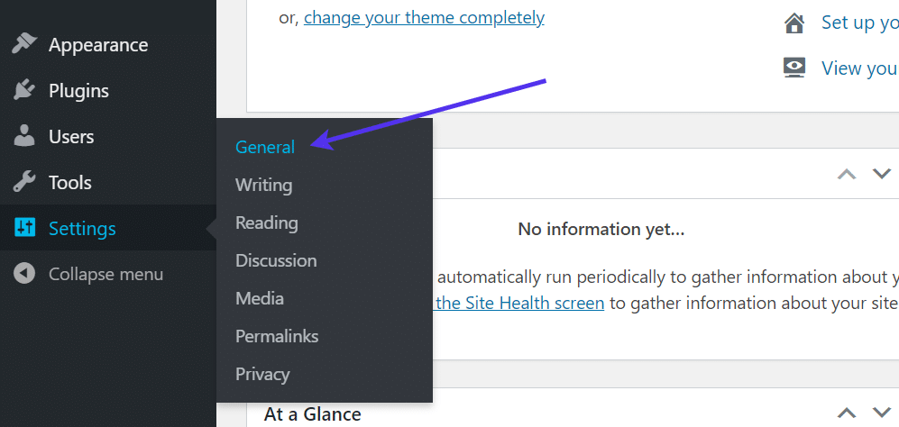 settings and general tabs - WordPress Registration Form